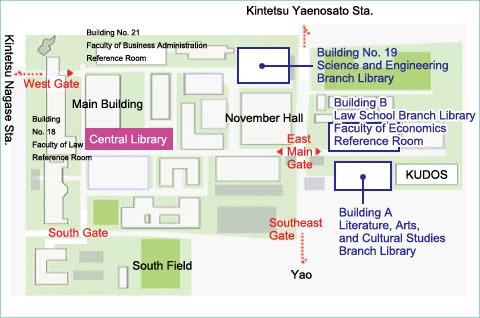 Campus Map - Kindai University Central Library
